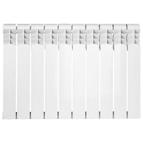 Радиатор секционный биметаллический ATM Metallo 500/80 x10 подключение универсальное боковое белый