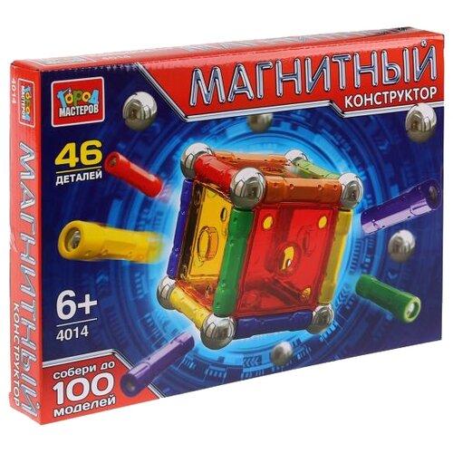 Купить Магнитный конструктор ГОРОД МАСТЕРОВ Магнитный 4014 Палочки и шарики, Конструкторы