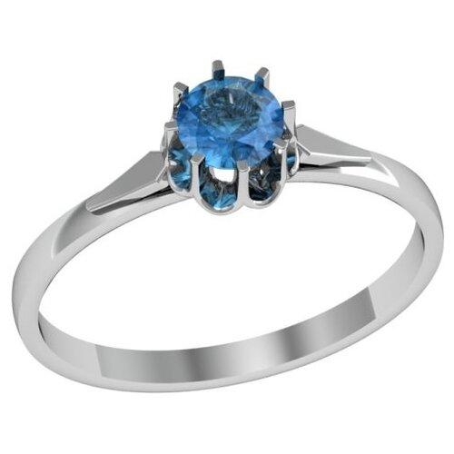 Фото - Приволжский Ювелир Кольцо с 1 алпанитом из серебра 271800-FA77, размер 18.5 приволжский ювелир кольцо с 1 алпанитом из серебра с позолотой 272158 fa77 размер 18