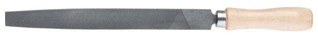 Напильник, 300 мм, плоский, деревянная ручка СИБРТЕХ (16232)