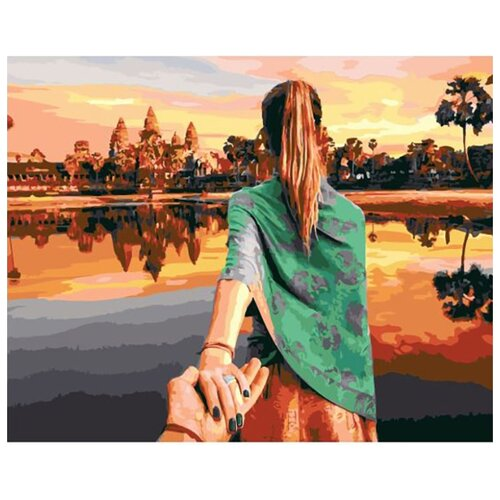 Купить Картина по номерам ВанГогВоМне ZX 23073 Следуй за мной. Камбоджа 40х50 см, Картины по номерам и контурам