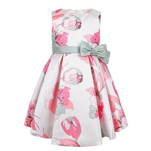 Платье ColoriChiari размер 74, белый/розовый/цветочный принт