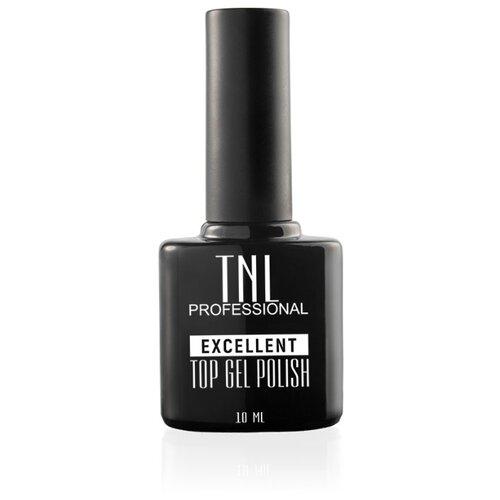 TNL Professional верхнее покрытие Excellent Top Gel Polish 10 мл прозрачный adricoco верхнее покрытие top gel polish с липким слоем 8 мл бесцветный