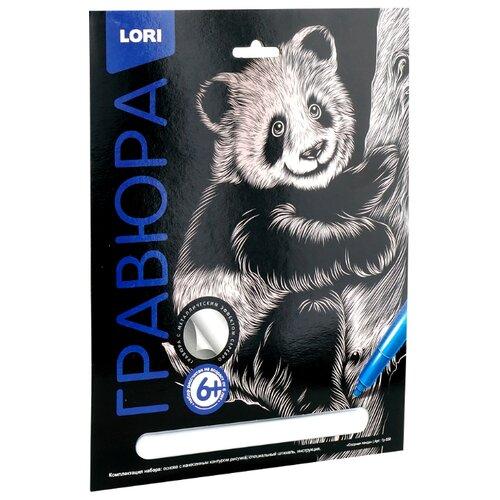 Купить Гравюра LORI Озорная панда (Гр-558) серебристая основа, Гравюры
