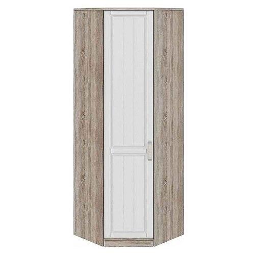 Шкаф для спальни ТриЯ Прованс СМ-223.07.026L, (ШхГхВ): 75.3х44х217.8 см, Дуб Сонома трюфель/Крем