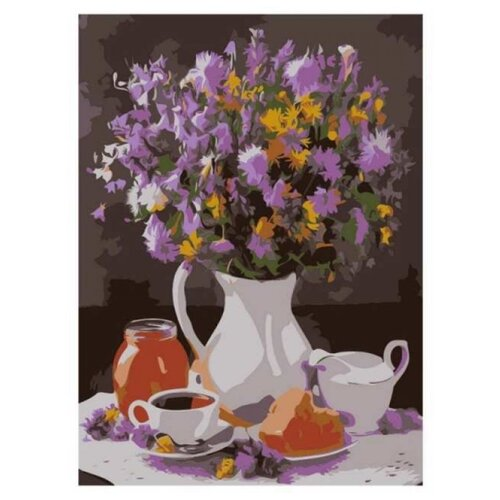Купить Рыжий кот Картина по номерам Полевые цветы на столе 22х30 см (HS143), Картины по номерам и контурам
