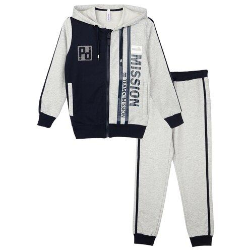Спортивный костюм playToday размер 98, серый/темно-синий