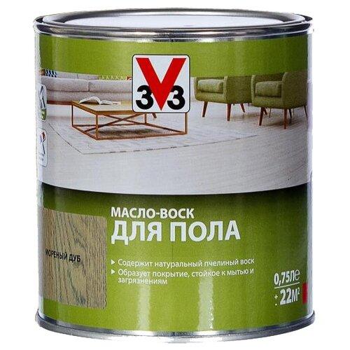 Масло-воск V33 для пола, мореный дуб, 0.75 л