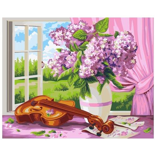Купить Раскрашивание, раскраски ФРЕЯ PKW-1 60 Набор для раскрашивания по номерам (по дереву) 40 х 50 см Сирень и скрипка. Жанна Когай , Картины по номерам и контурам