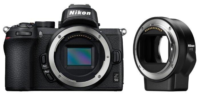 Фотоаппарат Nikon Z50 Body черный переходник FTZ фото 1