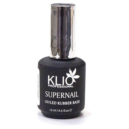 Купить KLIO Professional базовое покрытие Supernail Rubber Base 15 мл прозрачный