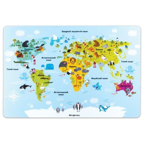 Купить Настольное покрытие Пифагор Карта мира 29х43 см голубой, Аксессуары