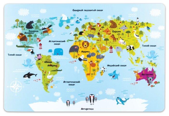 Настольное покрытие Пифагор Карта мира 29х43 см