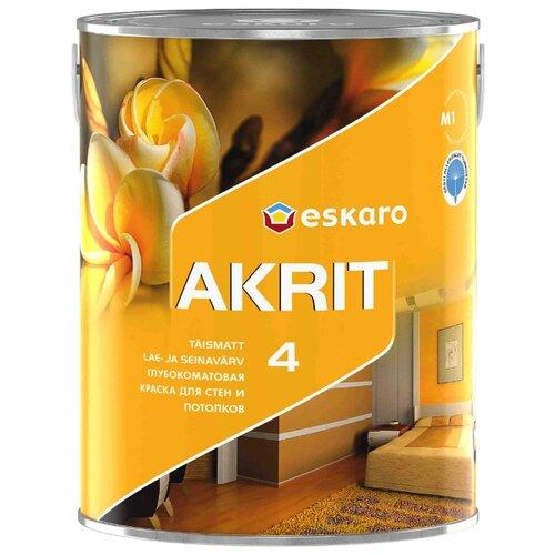 Краска акриловая Eskaro Akrit 4 матовая белый 0.95 л