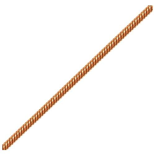 Адамант Цепь из золота плетения Панцирная двойная, сколоченная в круг Зл585К-2076040, 45 см, 3.93 г