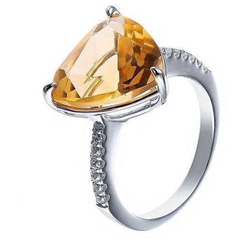 Фото - JV Кольцо с стеклом и фианитами из серебра SY-356168-R-KO-US-004-WG, размер 16 jv кольцо с фианитами из серебра car2926 ko 004 wg размер 16