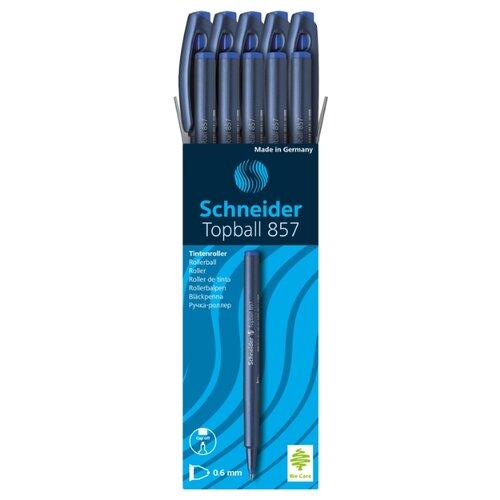 Купить Schneider Набор ручек-роллеров TopBall 857, 0.6 мм, 10 шт, синий цвет чернил, Ручки