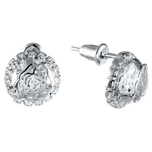 ELEMENT47 Серьги из серебра 925 пробы с фианитами 483E2146__SR_001_WG