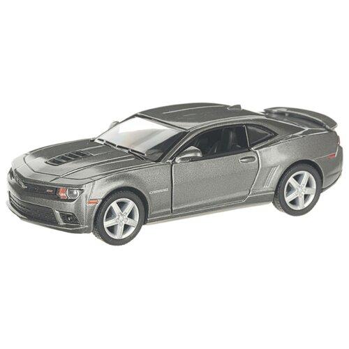 Купить Детская инерционная металлическая машинка с открывающимися дверями, модель Chevrolet Camaro 2014, серебристый, Serinity Toys, Машинки и техника