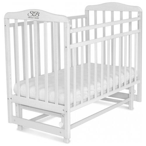 Кроватка SWEET BABY Ennio (качалка), поперечный маятник белый детские кроватки sweet baby ennio маятник поперечный