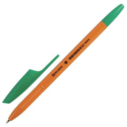 BRAUBERG Ручка шариковая X-333 Orange, узел 0.7 мм (142410/142411/142412), зеленый цвет чернил ручка гелевая brauberg jet синий