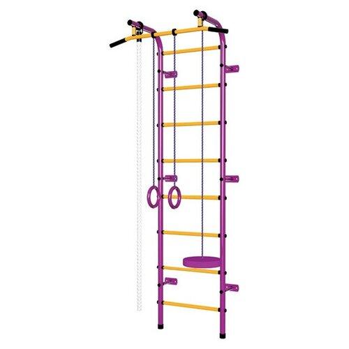 Спортивно-игровой комплекс Пионер С1НМ, пурпурный/желтый