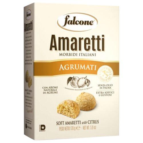 Печенье FALCONE Amaretti Morbidi с ароматом цитрусовых, 170 г