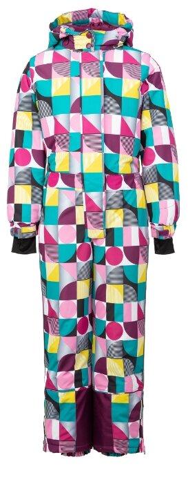 Комбинезон playToday 394106 размер 128, розовый/желтый/голубой/белый