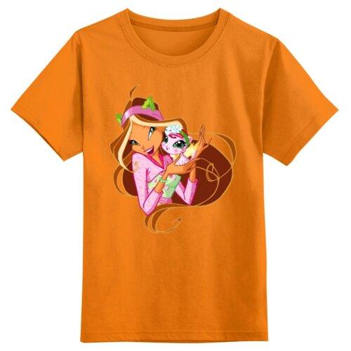 Футболка Printio размер XS, оранжевый