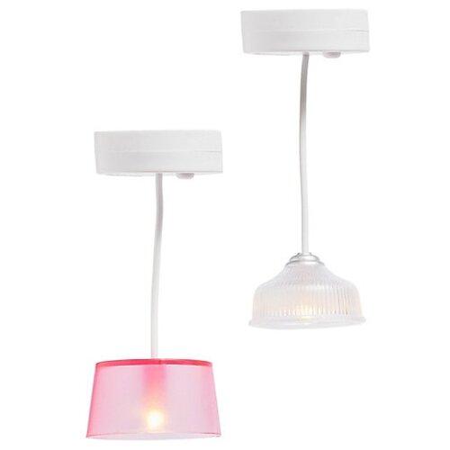 Купить Lundby Набор потолочных люстр (LB_60605300) белый/розовый, Мебель для кукол