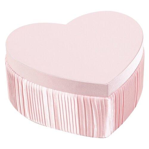 Коробка подарочная Yiwu Zhousima Crafts сердце 25.5 х 23 х 12 см розовый
