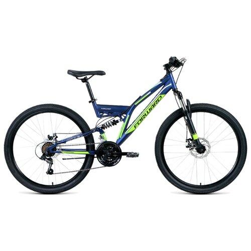 Горный (MTB) велосипед FORWARD Raptor 26 2.0 Disc (2019) синий 16 (требует финальной сборки) велосипед forward comanche 2 0 2016