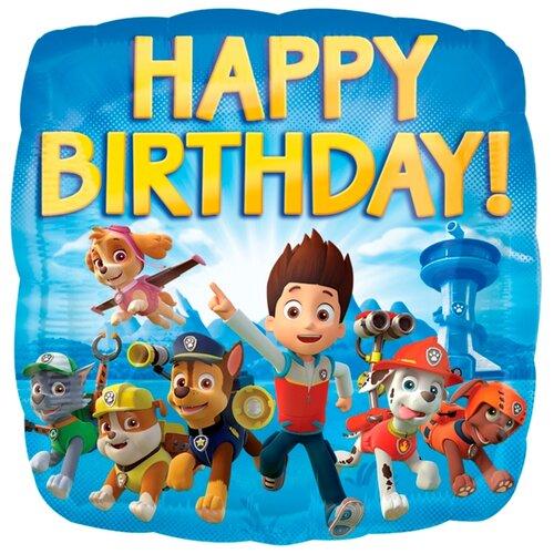 Воздушный шар Anagram Щенячий патруль С днем рождения! 43 см синий