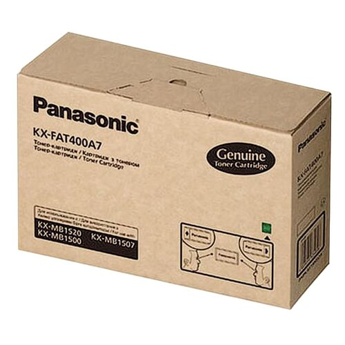 Фото - Тонер-картридж Panasonic (KX-FAT400A) KX-MB1500/1520, оригинальный, 1800 копий картридж cactus cs fat410a для panasonic kx fat410a7 mb1500 mb1507 mb1520 черный 2500стр