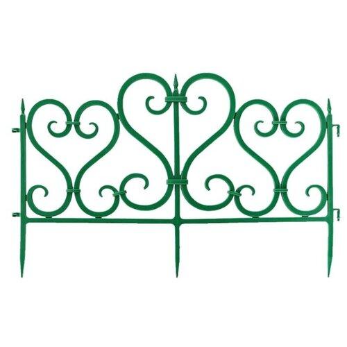 Забор декоративный Мастер Сад Ажурное, зеленое, 3 х 0.5 х 0.25 м
