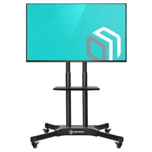 Фото - ONKRON стойка для телевизора с кронштейном 40-65, мобильная, чёрная TS1351 подставка для телевизора onkron ts1351 40 65 напольный мобильный