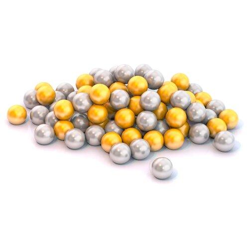Шарики для сухих бассейнов Нордпласт 100 шт. 6 см (410/1) золотистый/серебристый