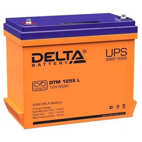 Аккумуляторная батарея DELTA Battery DTM 1255 L 55 А·ч аккумуляторная батарея delta battery dtm 1275 l 75 а·ч