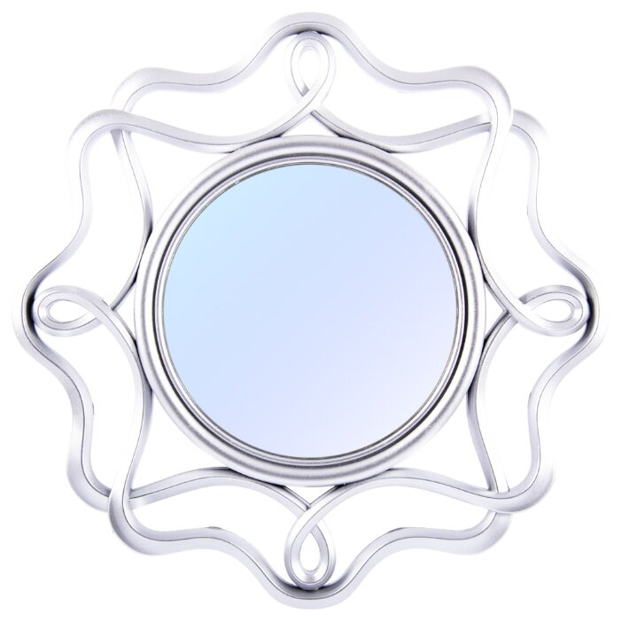 Зеркало интерьерное Русские Подарки, 237910, серый, диаметр 24 см
