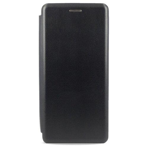 Кожаный чехол для Xiaomi Mi Note 10 и Mi Note 10 Pro / Чехол Книжка на Сяоми Ми Нот 10 и Ми Нот 10 Про с кармашком для карт (Черный)