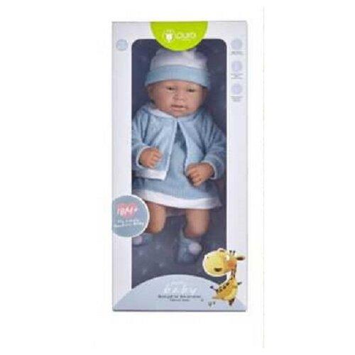 Пупс Junfa toys Pure Baby в голубом платье, 35 см, WJ-B9968 пупс junfa toys baby so lovely 1911 3