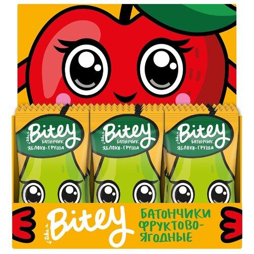 Фруктовый батончик Bitey Box без сахара Яблоко-груша 25 г 30 шт батончик take a bitey фруктово ягодный яблоко груша 25 г