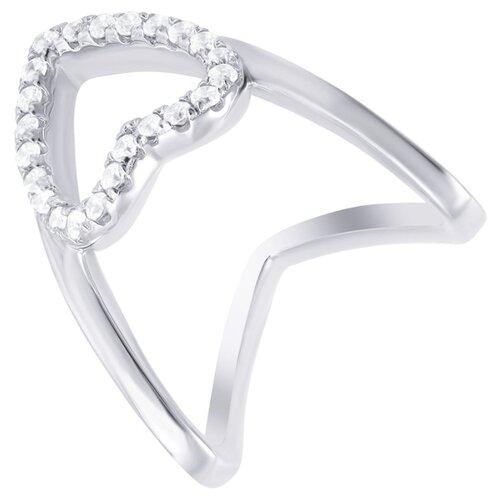 ELEMENT47 Кольцо из серебра 925 пробы с фианитами ML02250B-KO-001-WG, размер 16.5