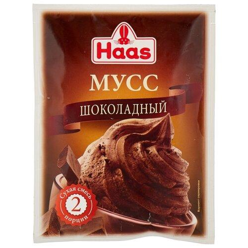 Фото - Смесь для десерта Haas Мусс шоколадный 65 г смесь для десерта newa nutrition пудинг шоколадный вкус 150 г