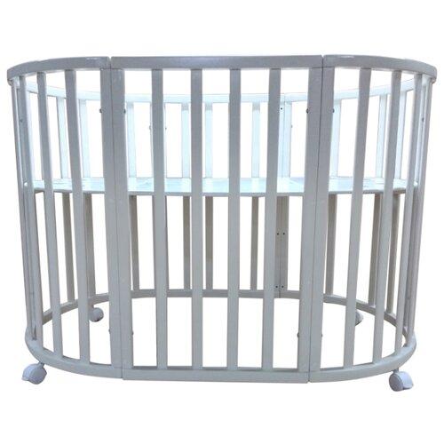 Кроватка JAKOMO Teo 7 в 1 (трансформер) белый кроватка jakomo teo 7 в 1 трансформер белый