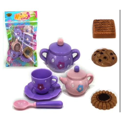 Купить Набор продуктов с посудой Yako Мини Мания - чайный набор M6011, Игрушечная еда и посуда