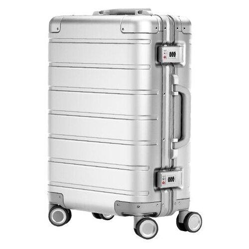 Чемодан Xiaomi 90 Points Mi Metal Travel Suitcase 20 31 л, серебристый чемодан xiaomi mi trolley 90 points 24 64 л white moon light