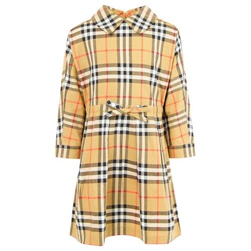 Платье Burberry размер 86, клетка/бежевый/коричневый