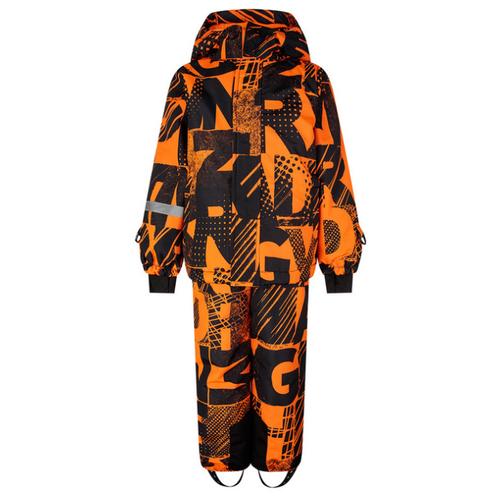 Купить Комплект с полукомбинезоном playToday 32012052 размер 116, черный/оранжевый, Комплекты верхней одежды