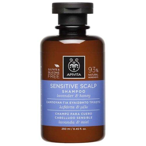 Apivita шампунь Sensitive Scalp Lavender & Honey 250 мл шампунь honey